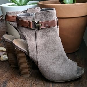 BAMBOO open toed booties